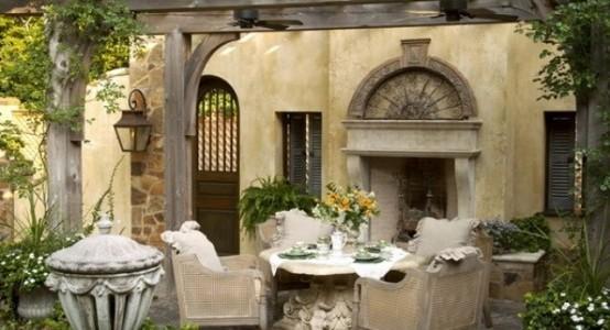 Inspired modern italian patio pavilion the grace for Italian patio design